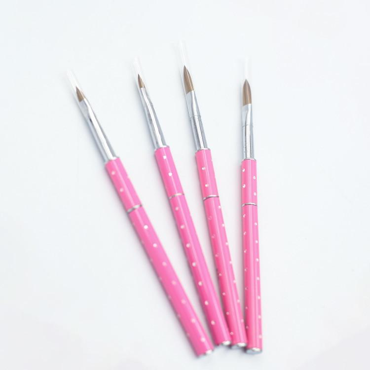 4 pcs mixed pink rod nail brush