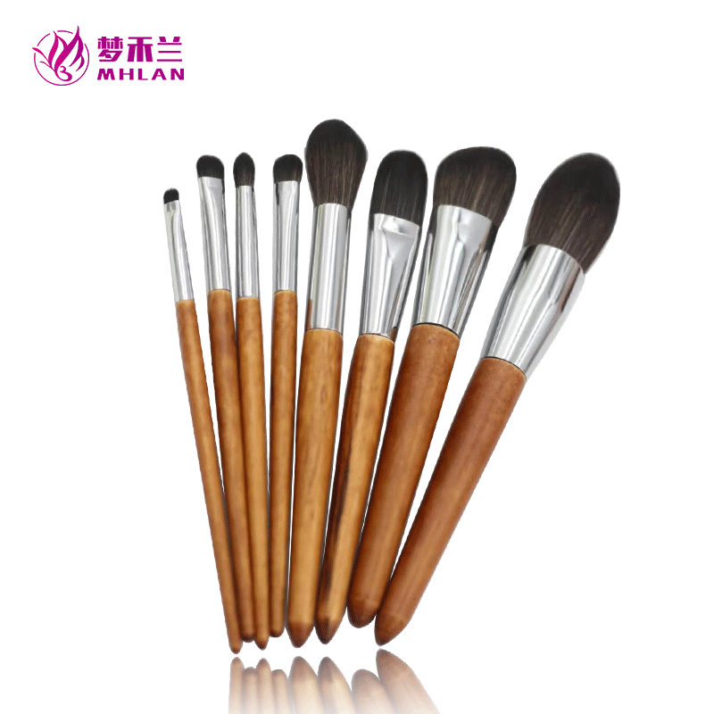 Mhlan wood handle durable ferrule brush for beauty