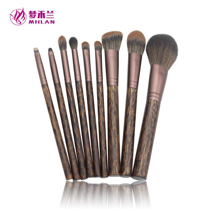Fine quality travel precision lip brush 9 makeup brush set