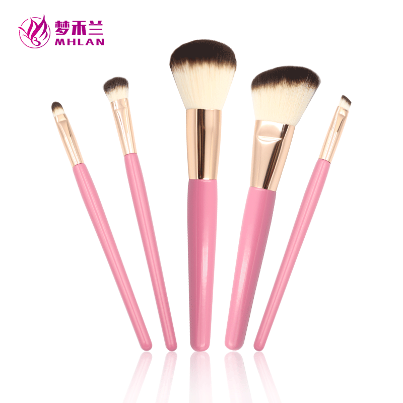 Best practical  5 pcs makeup brush set for beginner