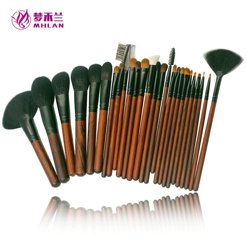 26 pcs animal hair professional makeup brush kit with bags
