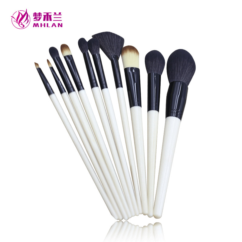 Professional cheap p 10pcs natural color kabuki makeup set