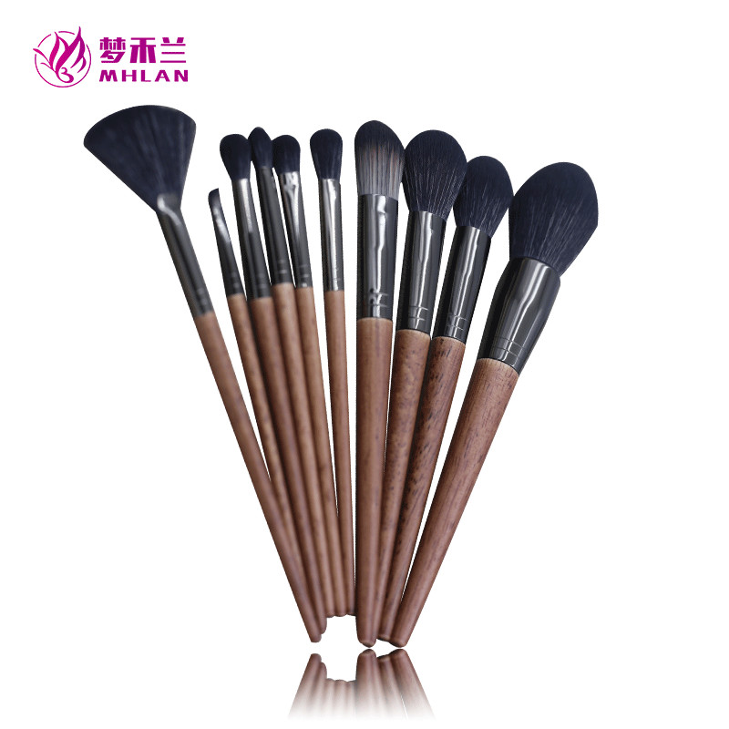 Best 10pcs makeup brush with vintage wood handle
