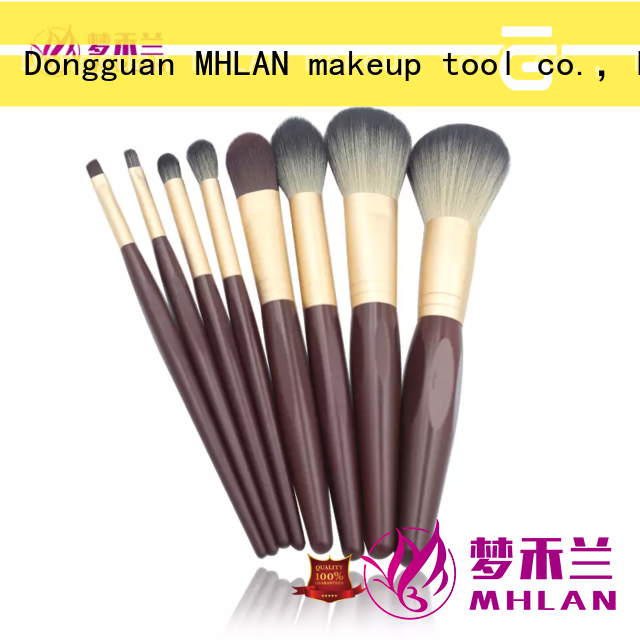MHLAN kabuki brush set supplier for cosmetic