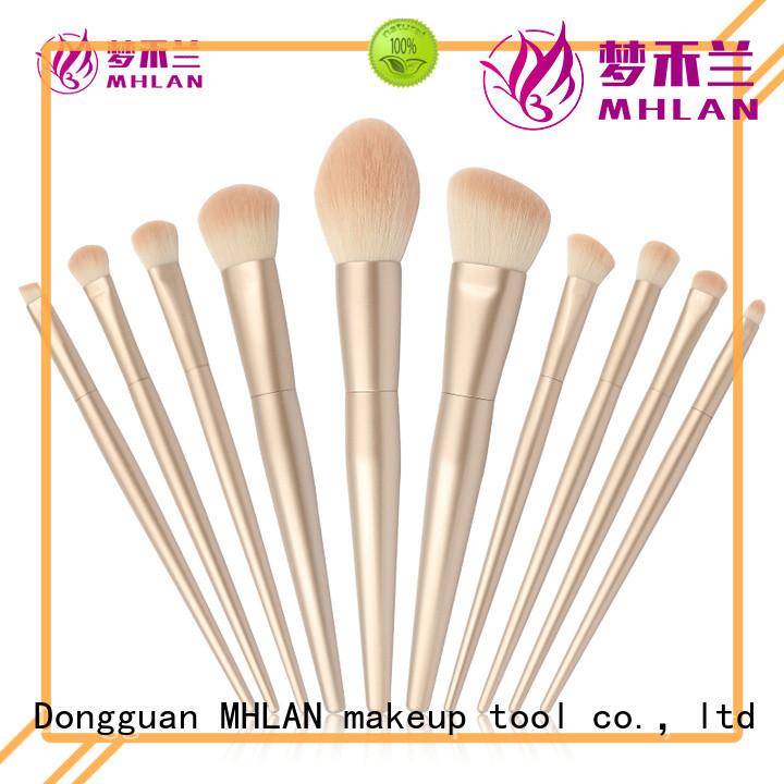 MHLAN 100% quality full makeup brush set factory for distributor