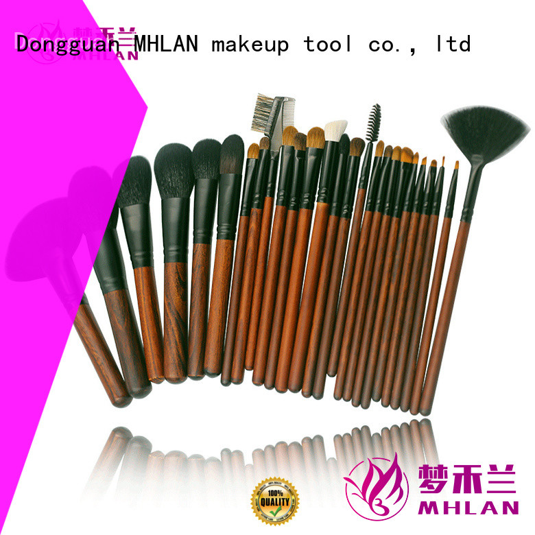 MHLAN 100% quality full makeup brush set from China for wholesale