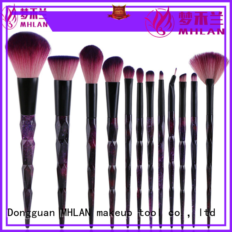 MHLAN custom cosmetic brush set from China for distributor