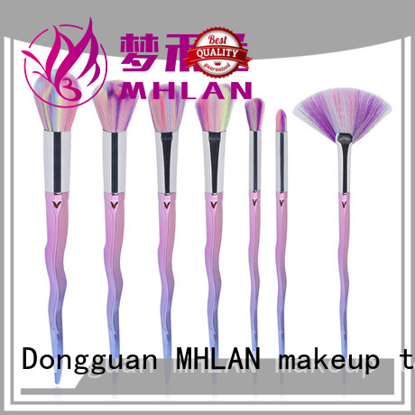 MHLAN 100% quality face makeup brush set supplier for cosmetic