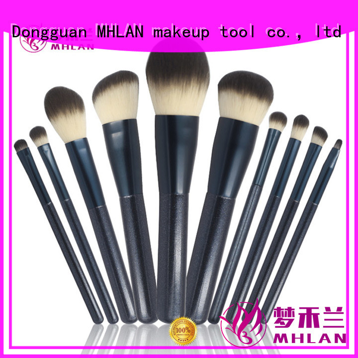 MHLAN custom travel makeup brush set supplier for cosmetic