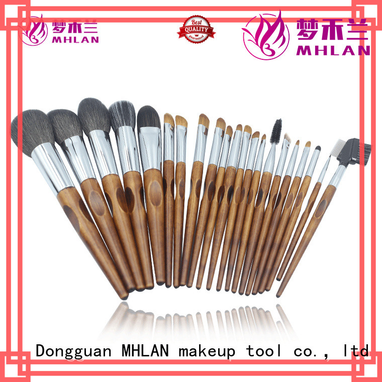 MHLAN custom full makeup brush set from China for cosmetic