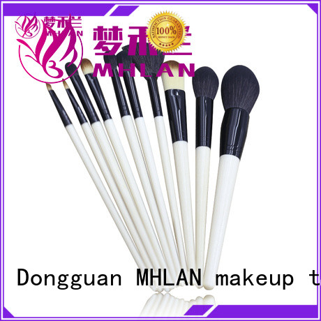 MHLAN 100% quality face makeup brush set from China for cosmetic