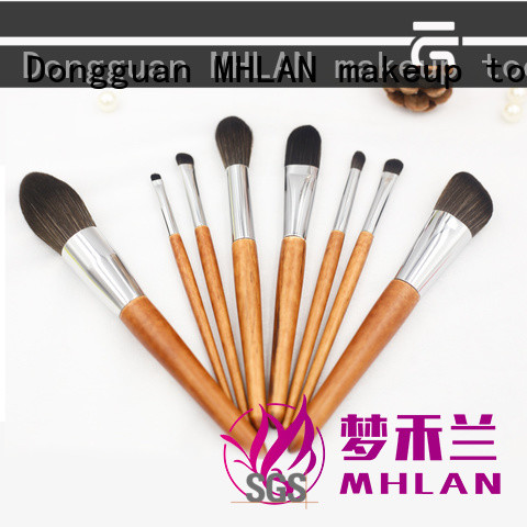 MHLAN 100% quality full makeup brush set from China for cosmetic