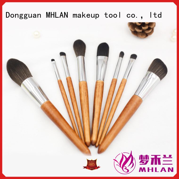 MHLAN 100% quality best makeup brushes kit supplier for cosmetic