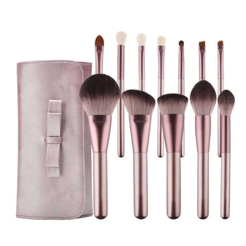 MHLAN mini grape 12 pcs synthetic hair makeup brush set