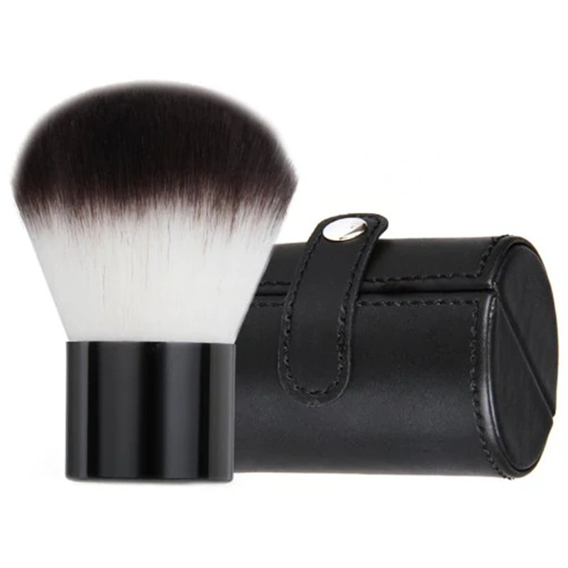 Super Soft Synthetic Bristle Black Kabuki Brush