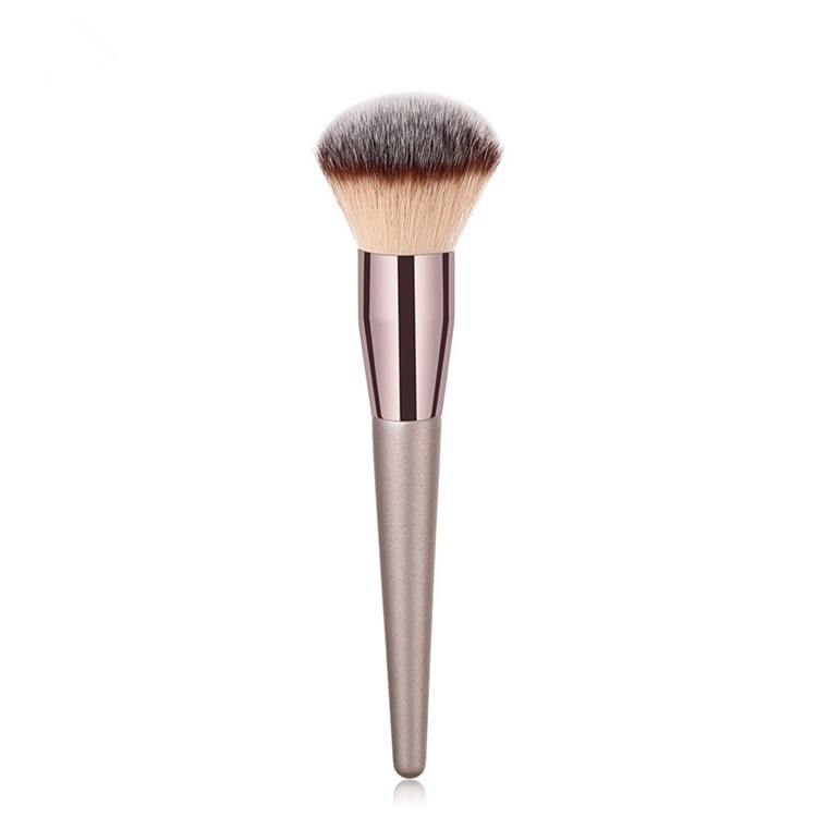 MHLAN special Champagne color powder brush with 3 colors hairs