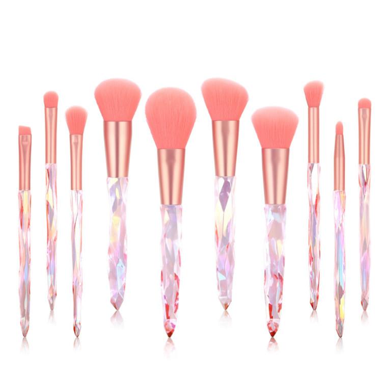 MHLAN Transparent crystal handle makeup brush set