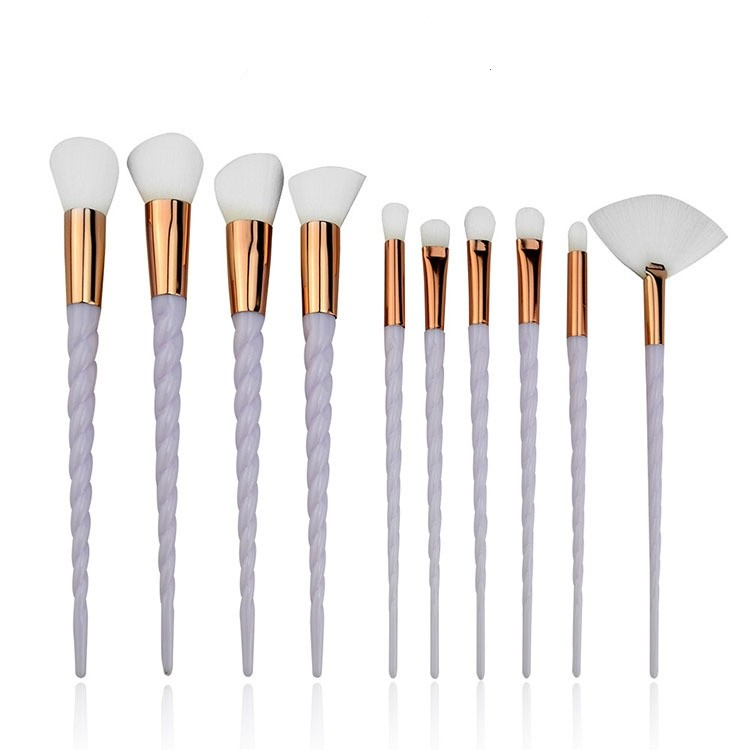 MHLAN Multi-color Handle Spiral Makeup Brush with Super Soft Brush Bristle