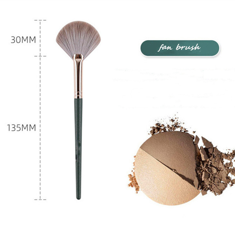 MHLAN Face Makeup Brush Single Fan Brush for Applying Bronzer