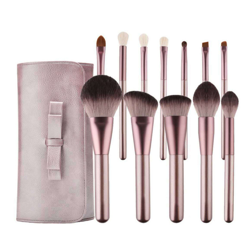 MHLAN 12 pcs mini grape multi-functional big powder brush makeup brush sets