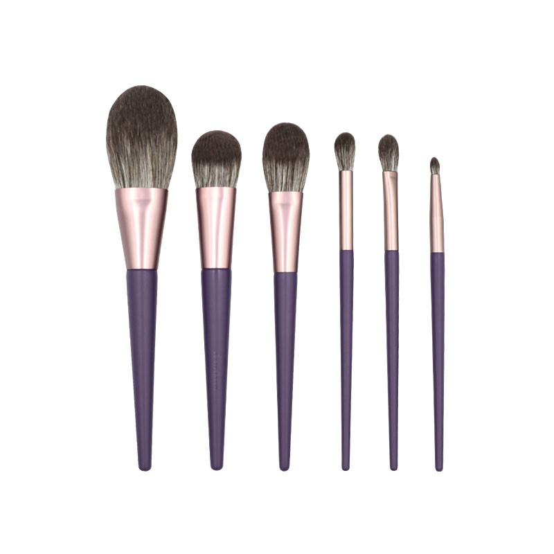 MHLAN 6 pcs Romantic Purple Makeup Brush Set