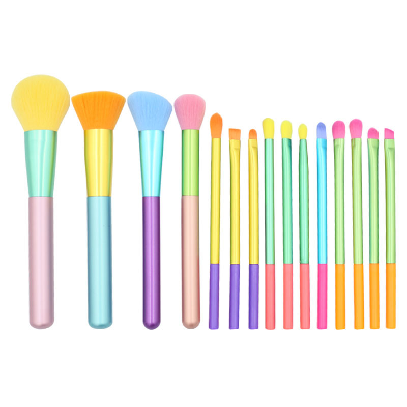 MHLAN Manufacture Colored Handle Cruelty Free Synthetic Hair Spectrum brushes