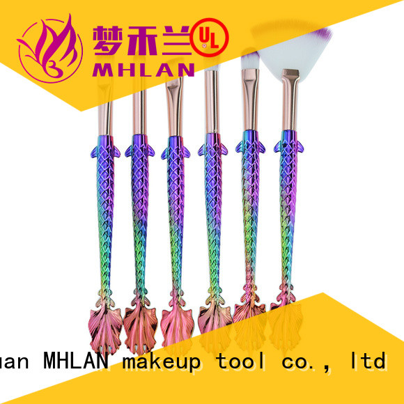 MHLAN custom eye brush set from China for distributor