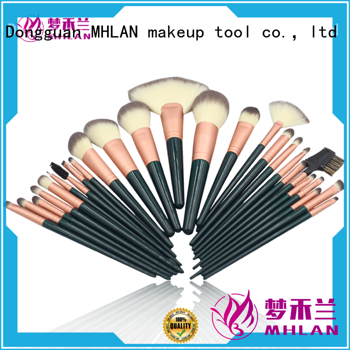 MHLAN custom cosmetic brush set from China for cosmetic